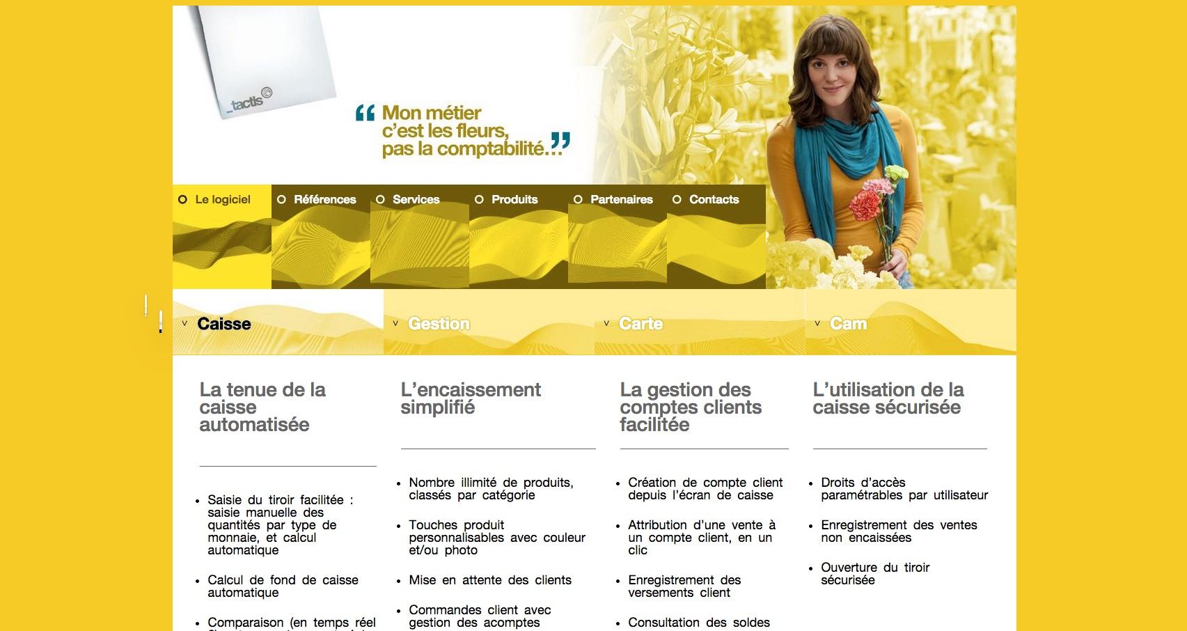 Aperçu du site tactis.fr